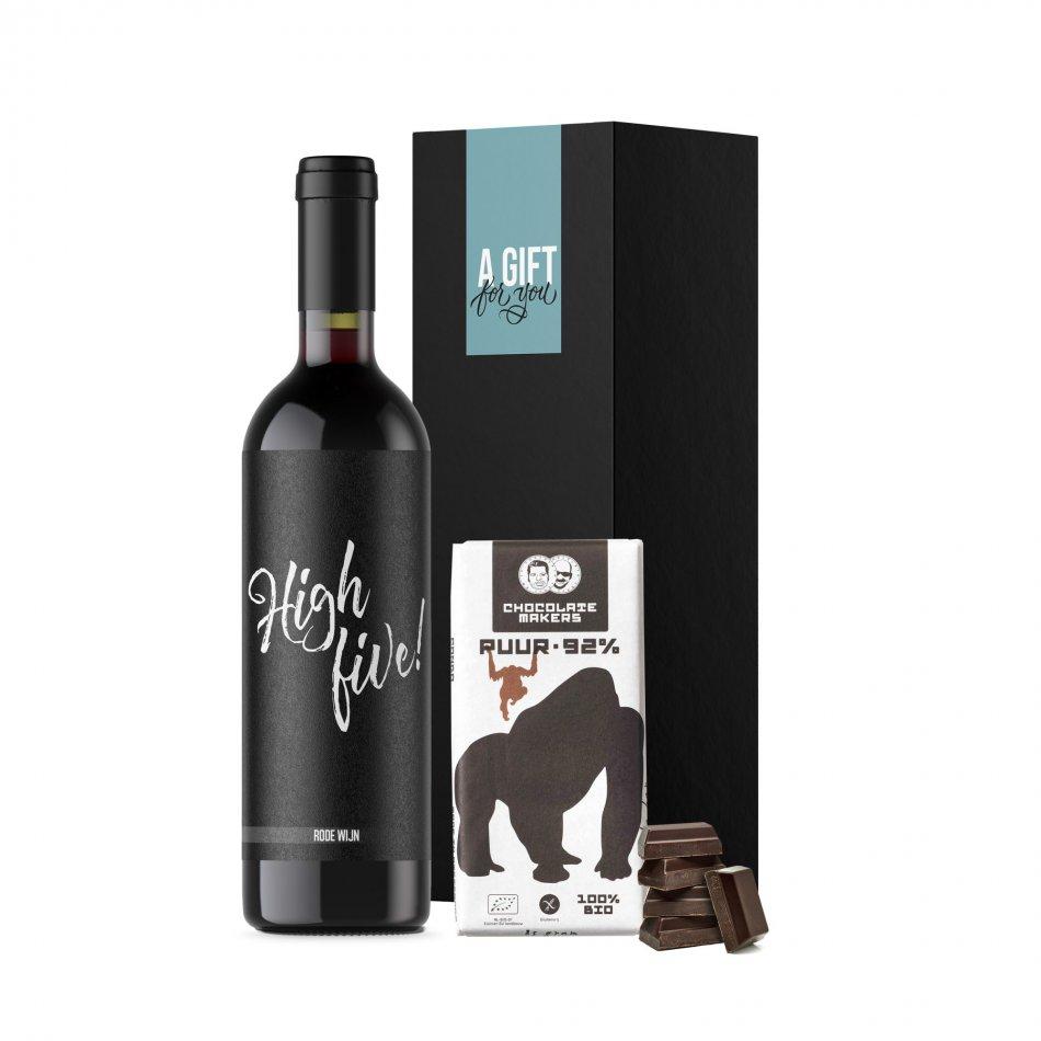 High Five & Chocolate - Rood